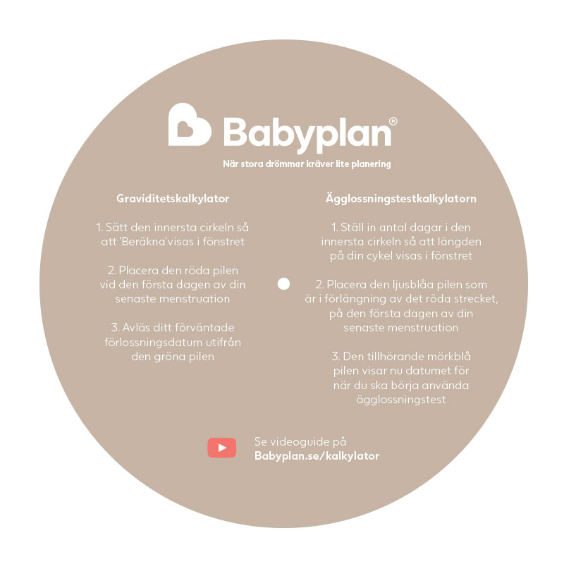 Babyplan Graviditetskalkylator